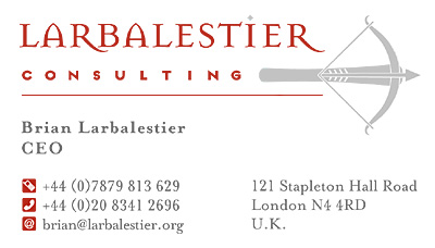 Logo & identity: Larbalestier Consulting