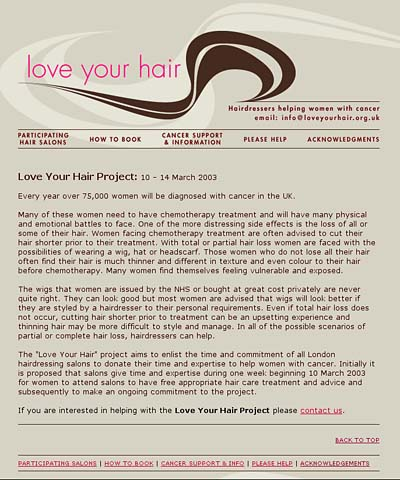 Logo & Website: Love Your Hair