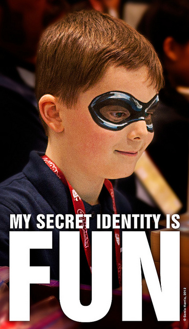 On the subject of secret identities.