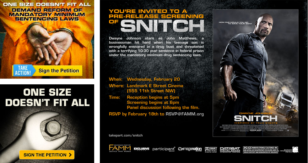 Ad banners & invitation: Snitch