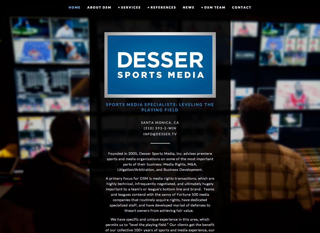 Desser Sports Media - home page