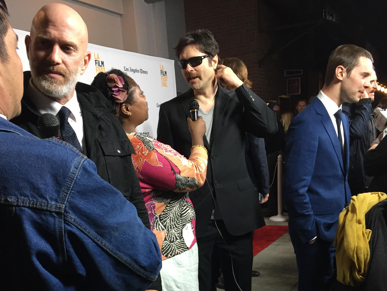 Bruno Gun, Joe Casey, and Tyler Ross being interviewed