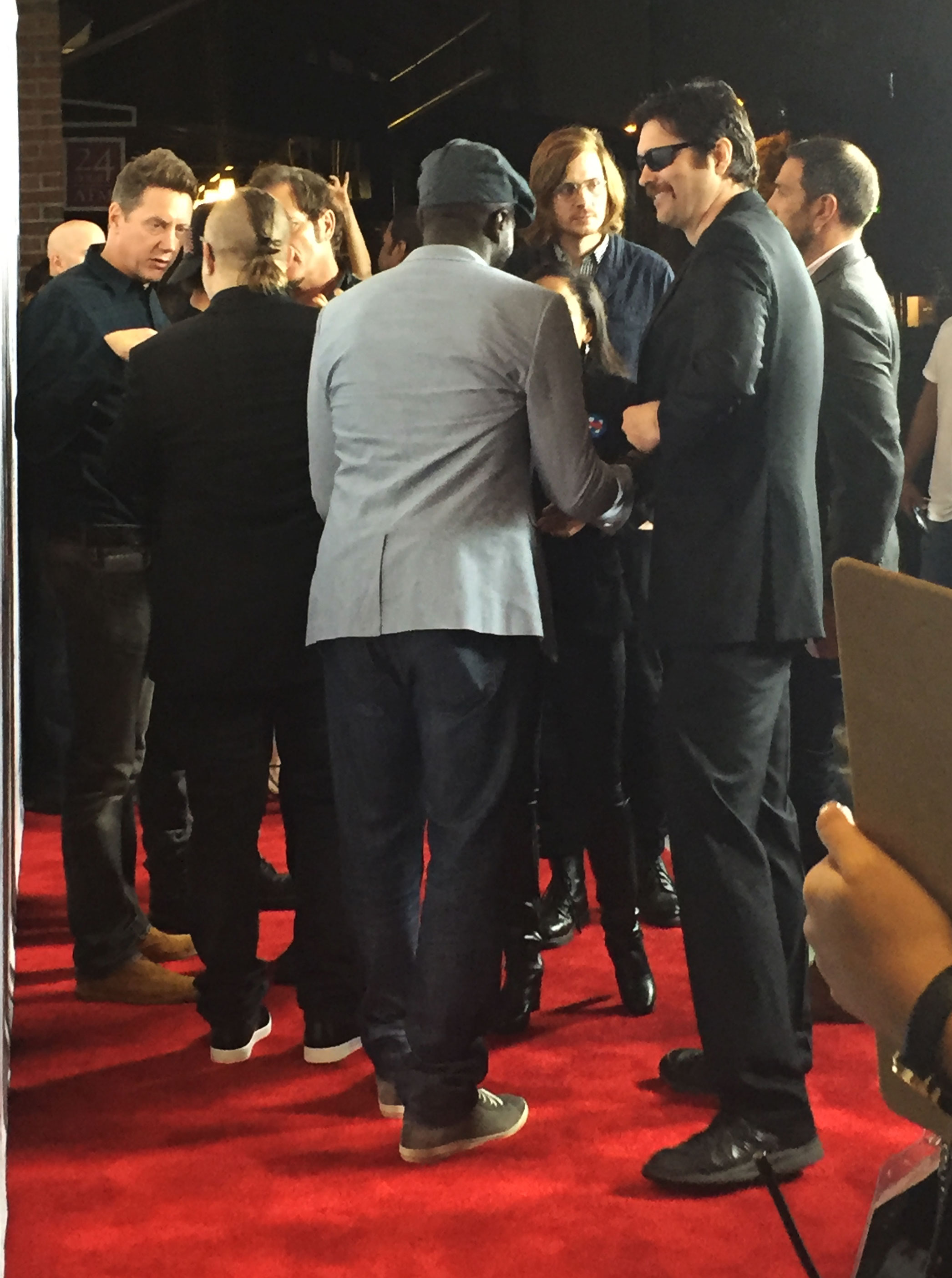 The team had a moment on the red carpet