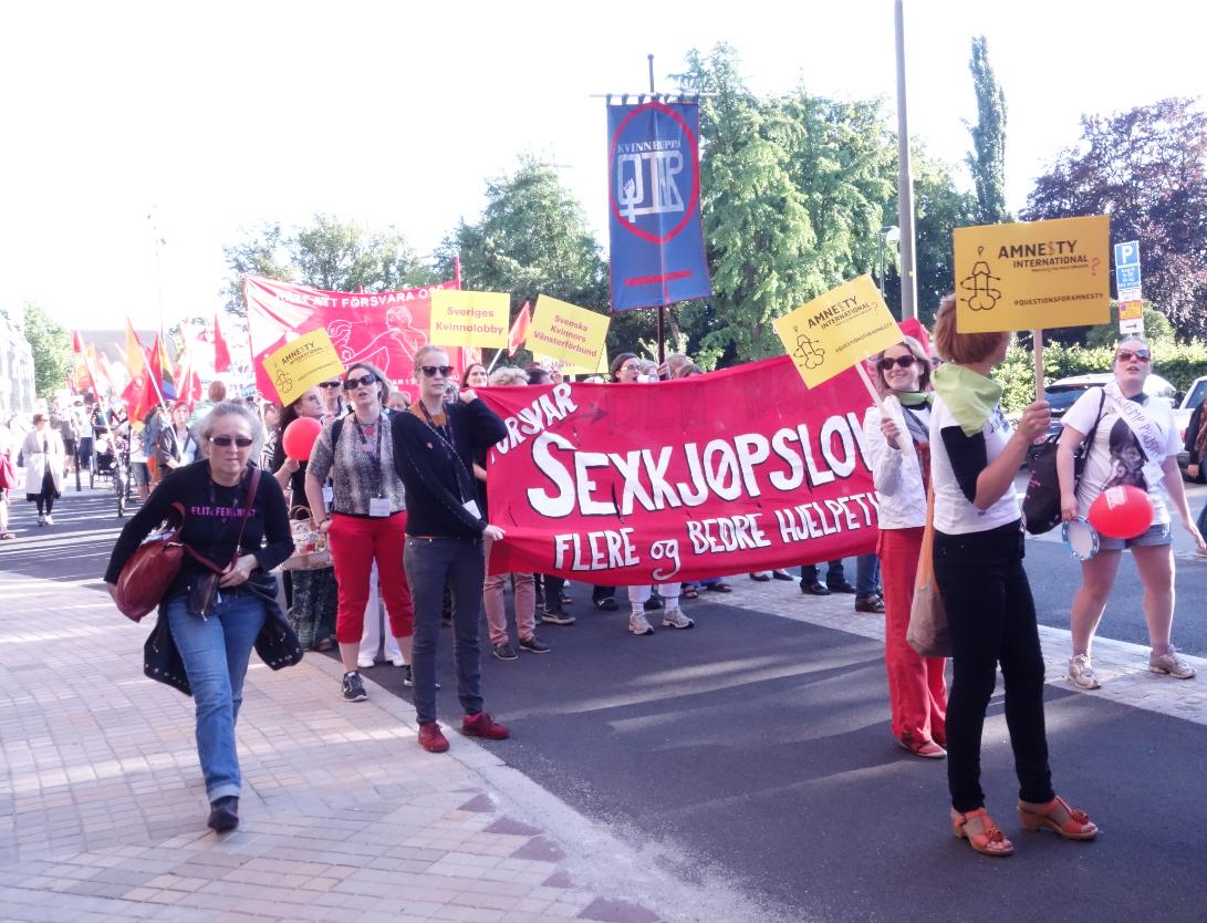 Fra den store feministparaden i Malmø i juni. Foto: Katarina Storalm