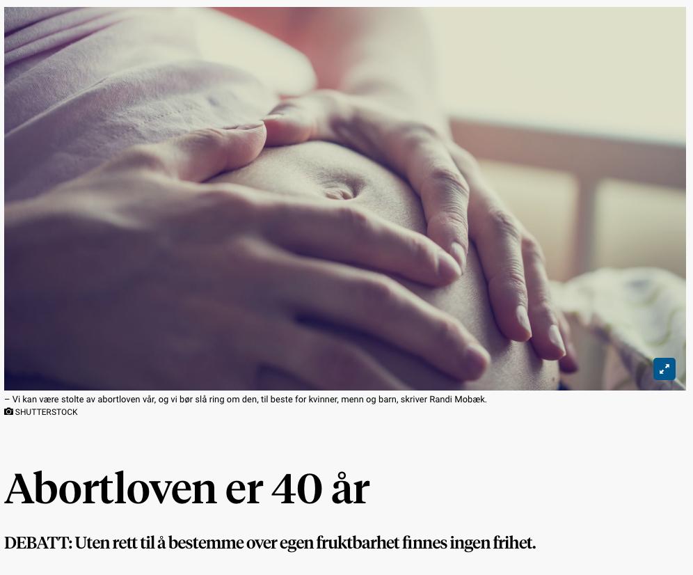 Faksimile fra Stavanger Aftenblad