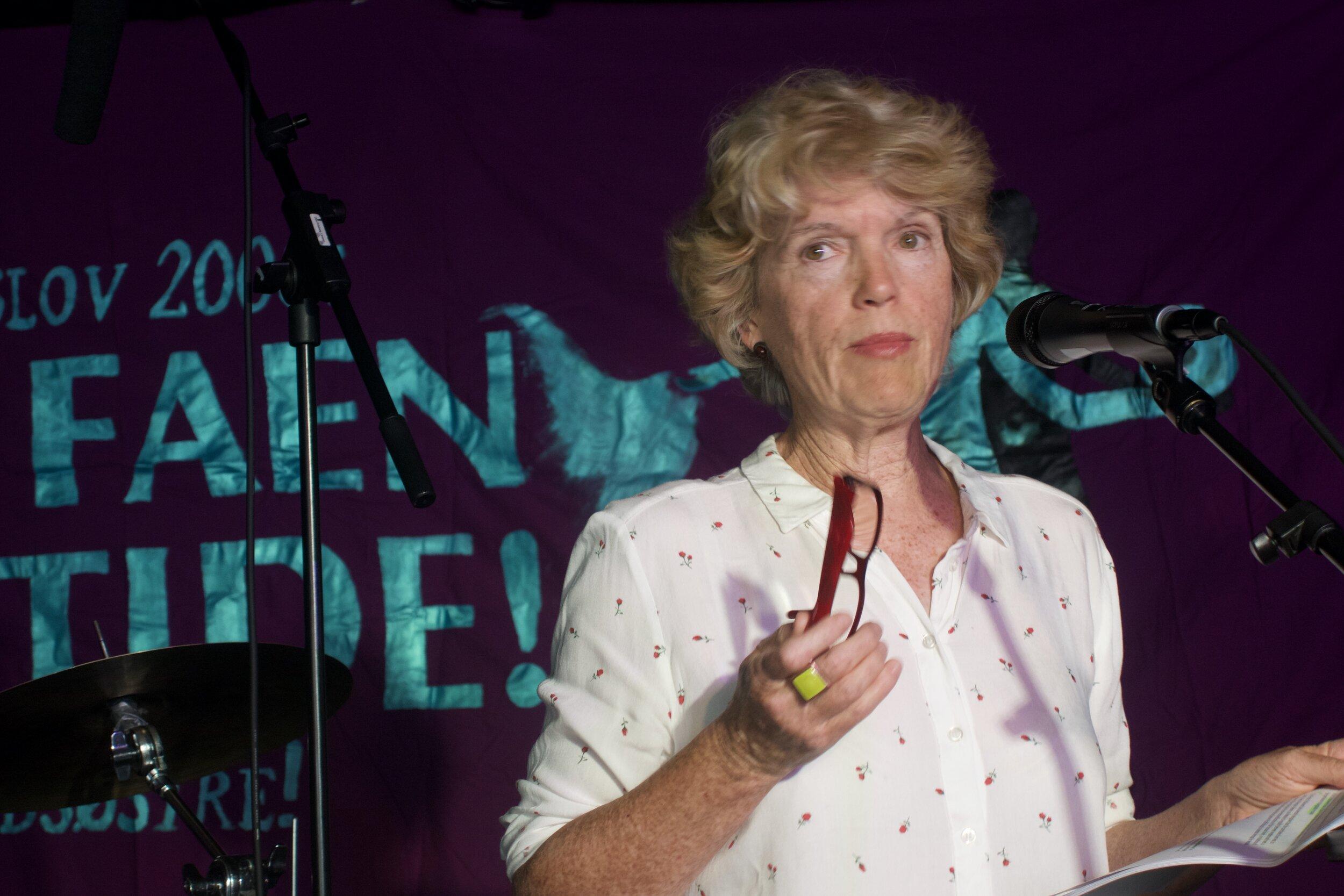 """Claudine Legardinier på konferansen """"Sexkjøpsloven 10 år: Hva nå?"""""""