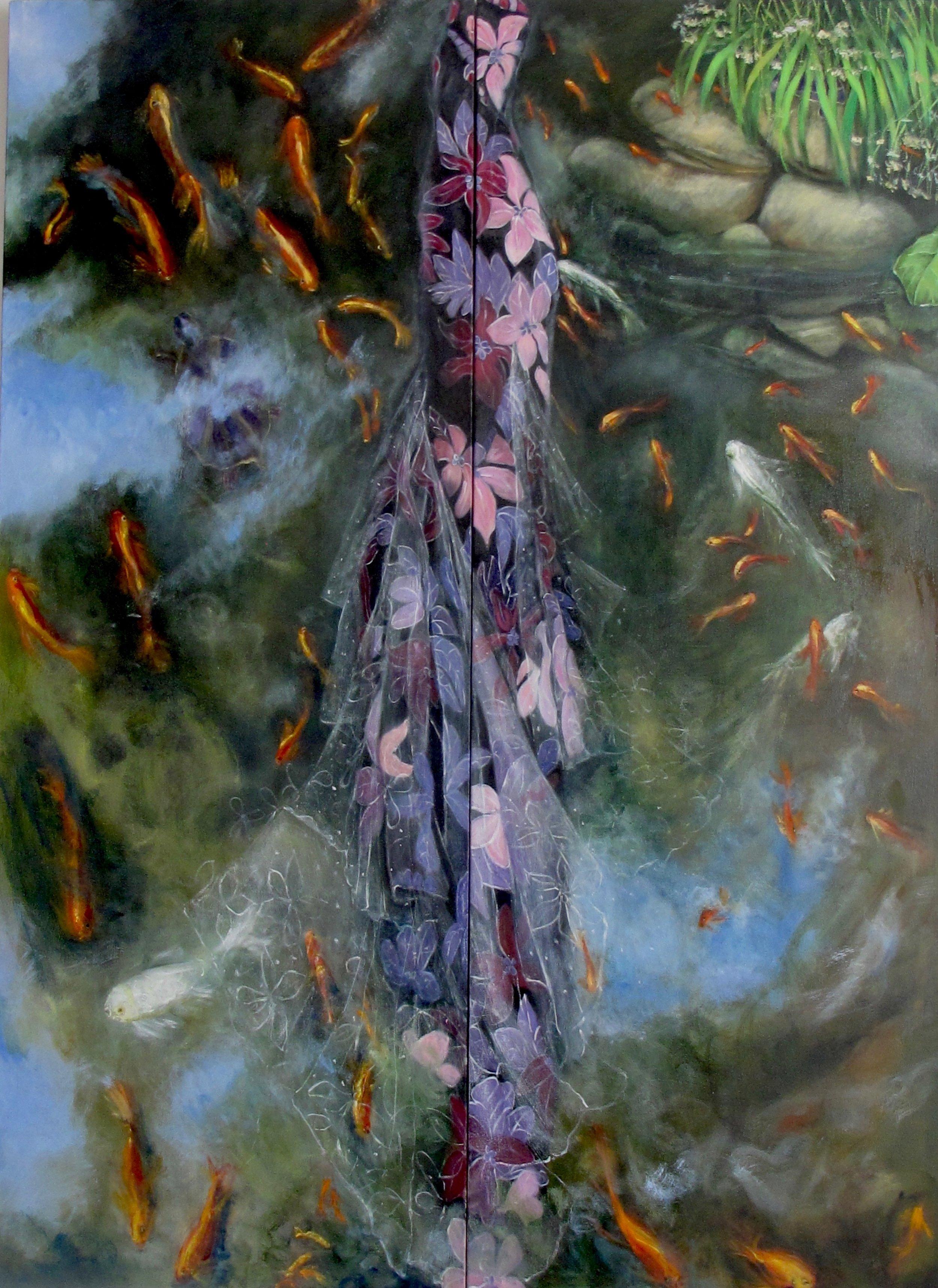 """The Italian Garden: Diptych oil on canvas 66 x 48"""""""