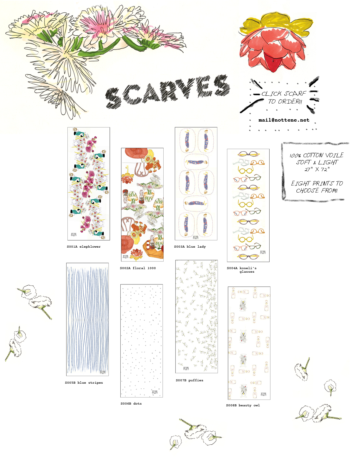 Click the image to see all the scarves in detail!