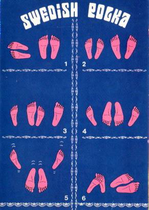 """Sweedish Polka (printed in Spain) ©by """"POK Editions"""" E. Salu, 83 - 1020 Brussels BERGAS Industries Graficas"""