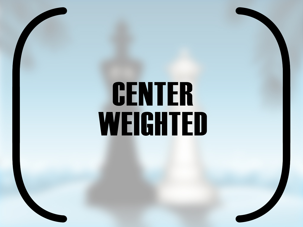 Center-weighted is the icon with just the brackets on the side.