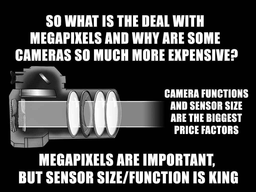The quality of the camera is determined a lot by the quality and size of the sensor more so than just by the number of megapixels.