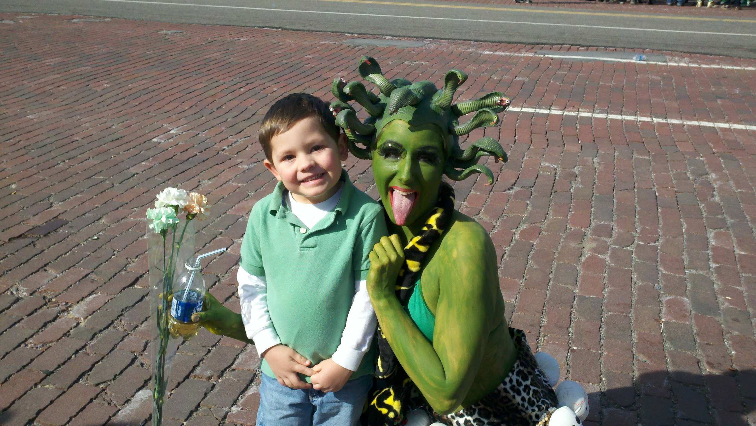 As Medusa at the Corktown St. Patrick's Day Parade...  (Detroit, March 2012)