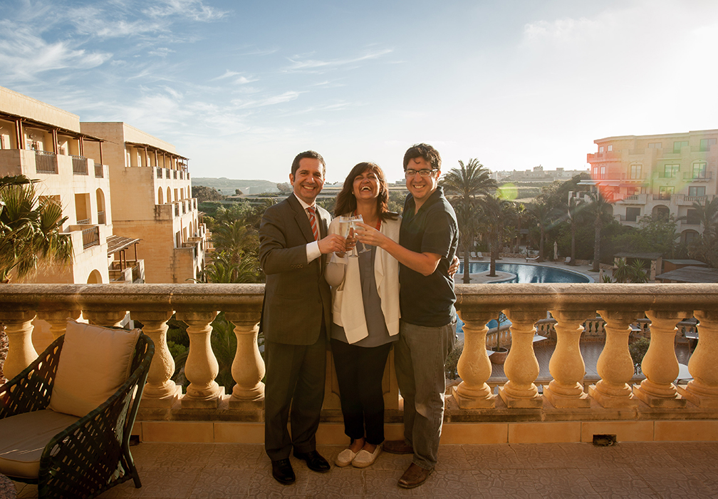 Massimo, our hilarious and gracious host fromthe hotel, celebrated with us after we finished the 10 day shoot.