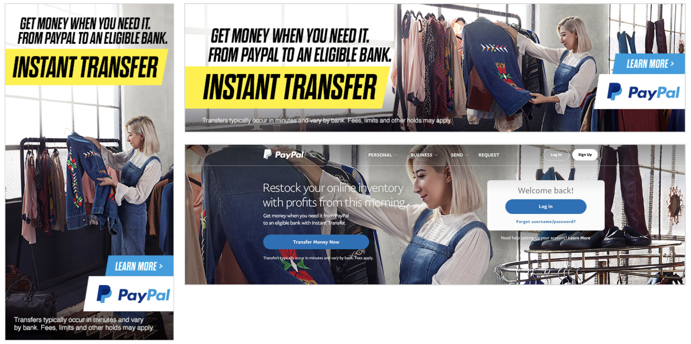 Instant Transfer Campaign for PayPal — Adam Dillon