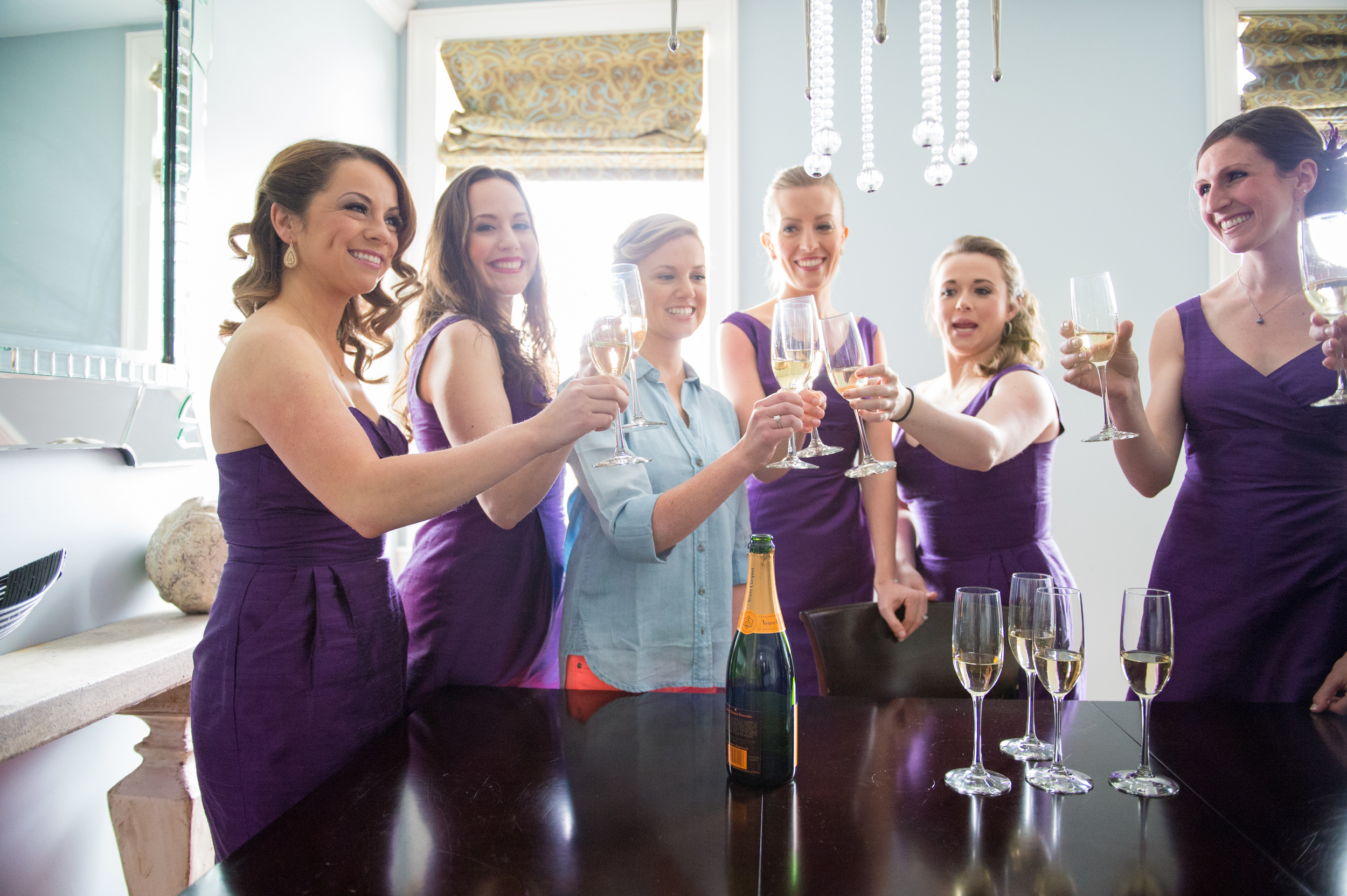 Morning of champagne toasts are a must.