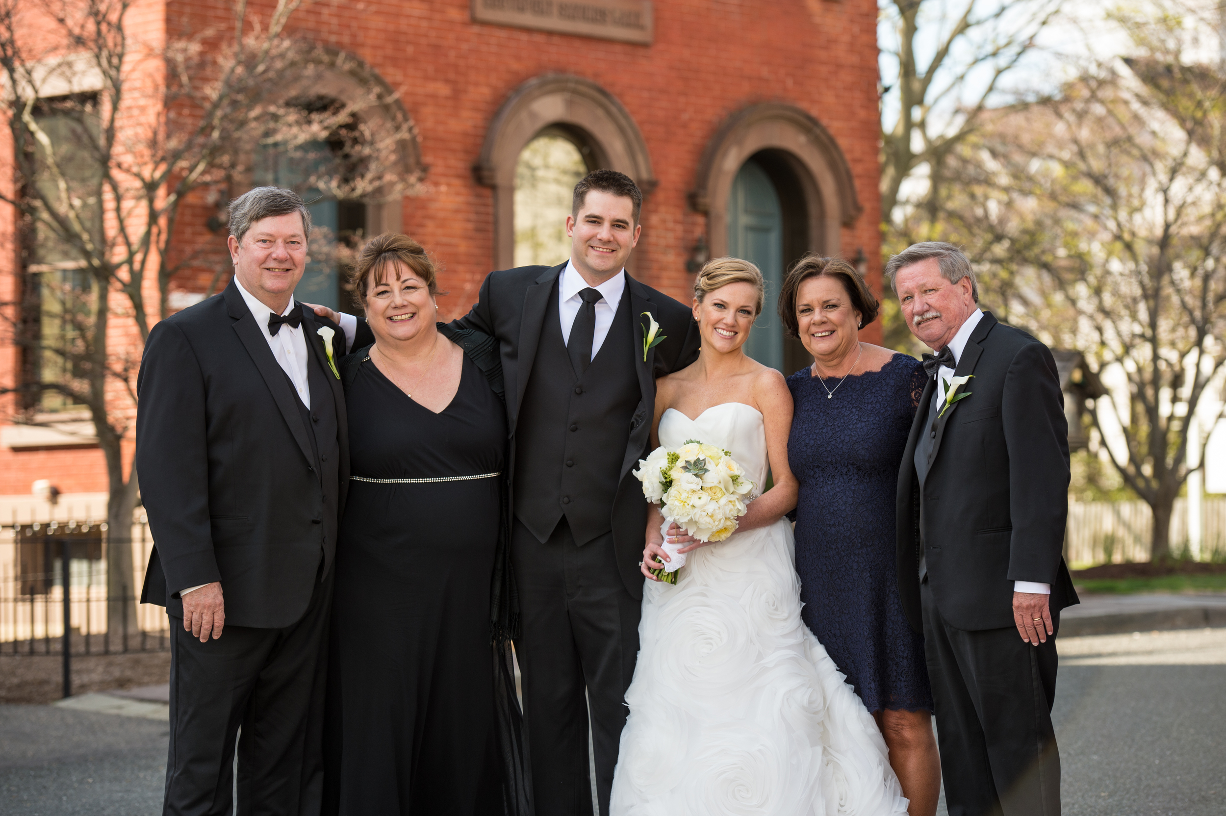 I LOVE Meghan & James' parents. They are absolutely wonderful. And Meghan's mom loves an exposed zipper dress. She knows what's up.