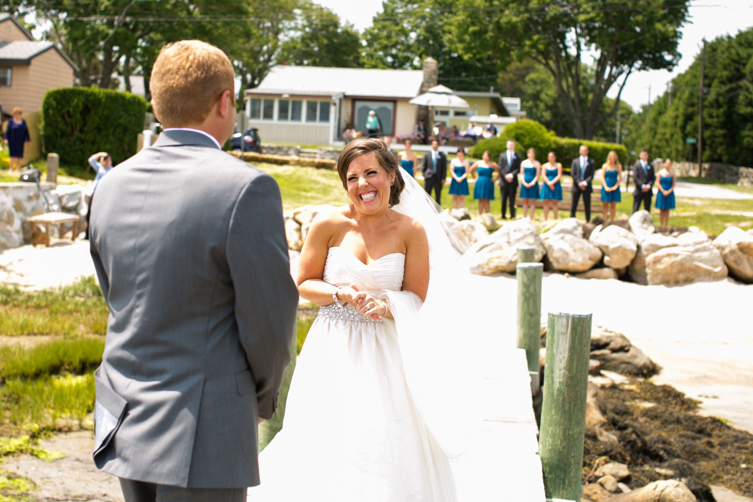 First Look at Mystic CT Wedding