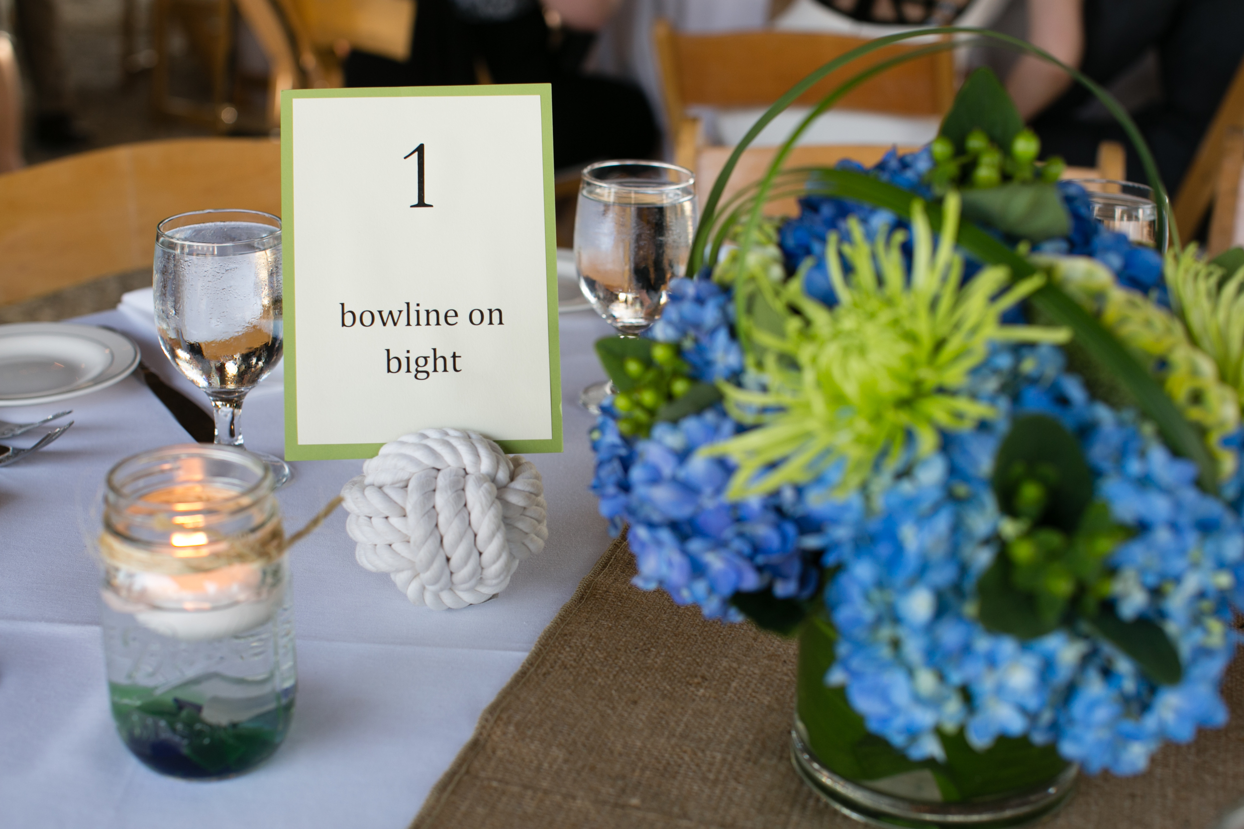 Nautical Table Scape Mystic CT Wedding