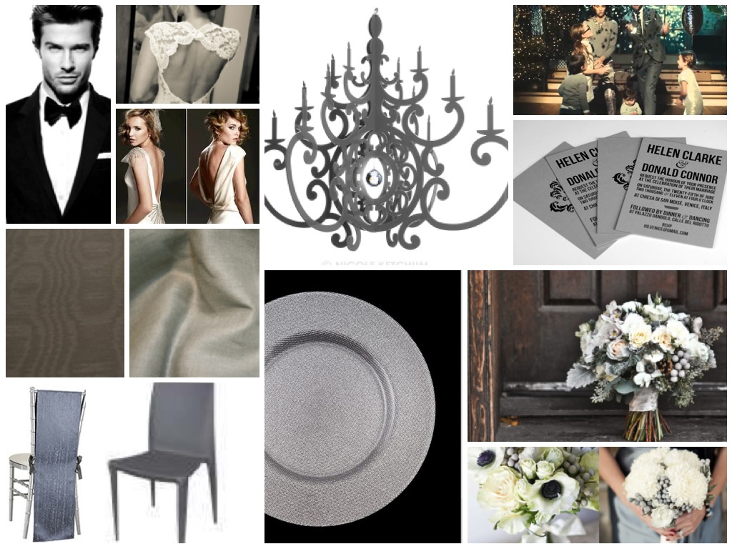 Shades of grey wedding inspired
