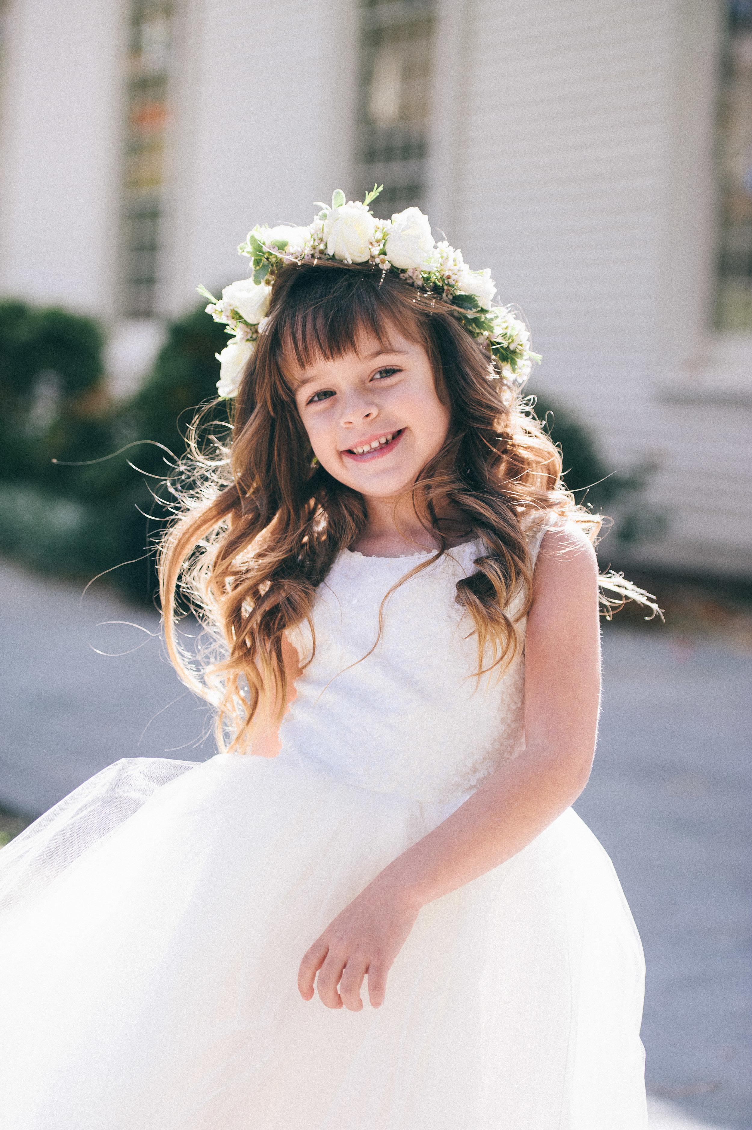 CT Wedding Inn at Longshore Amy Champagne Events Flower Girl