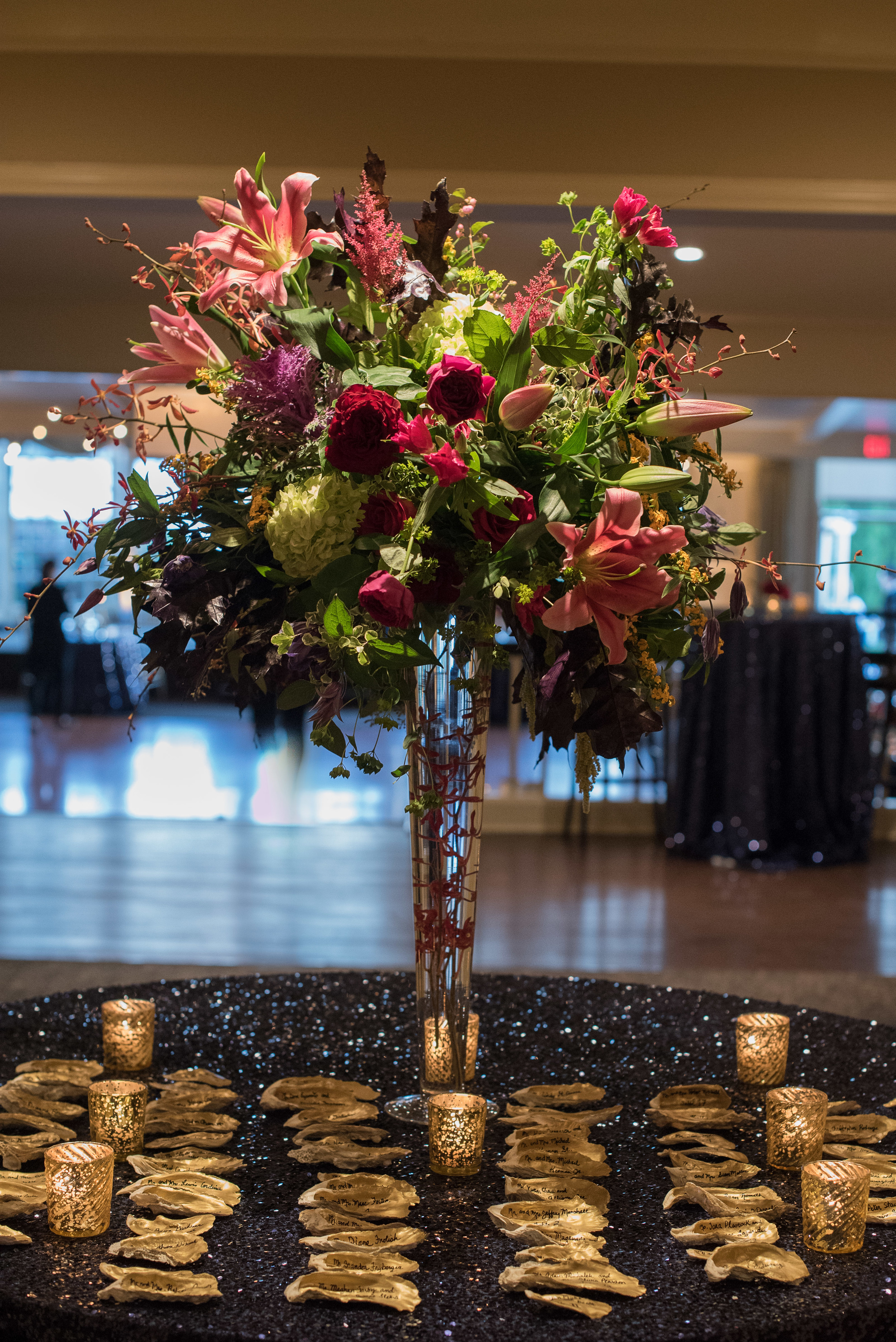 CT Wedding Inn at Longshore Amy Champagne Events Reception at Inn at Longshore Escort Card Table