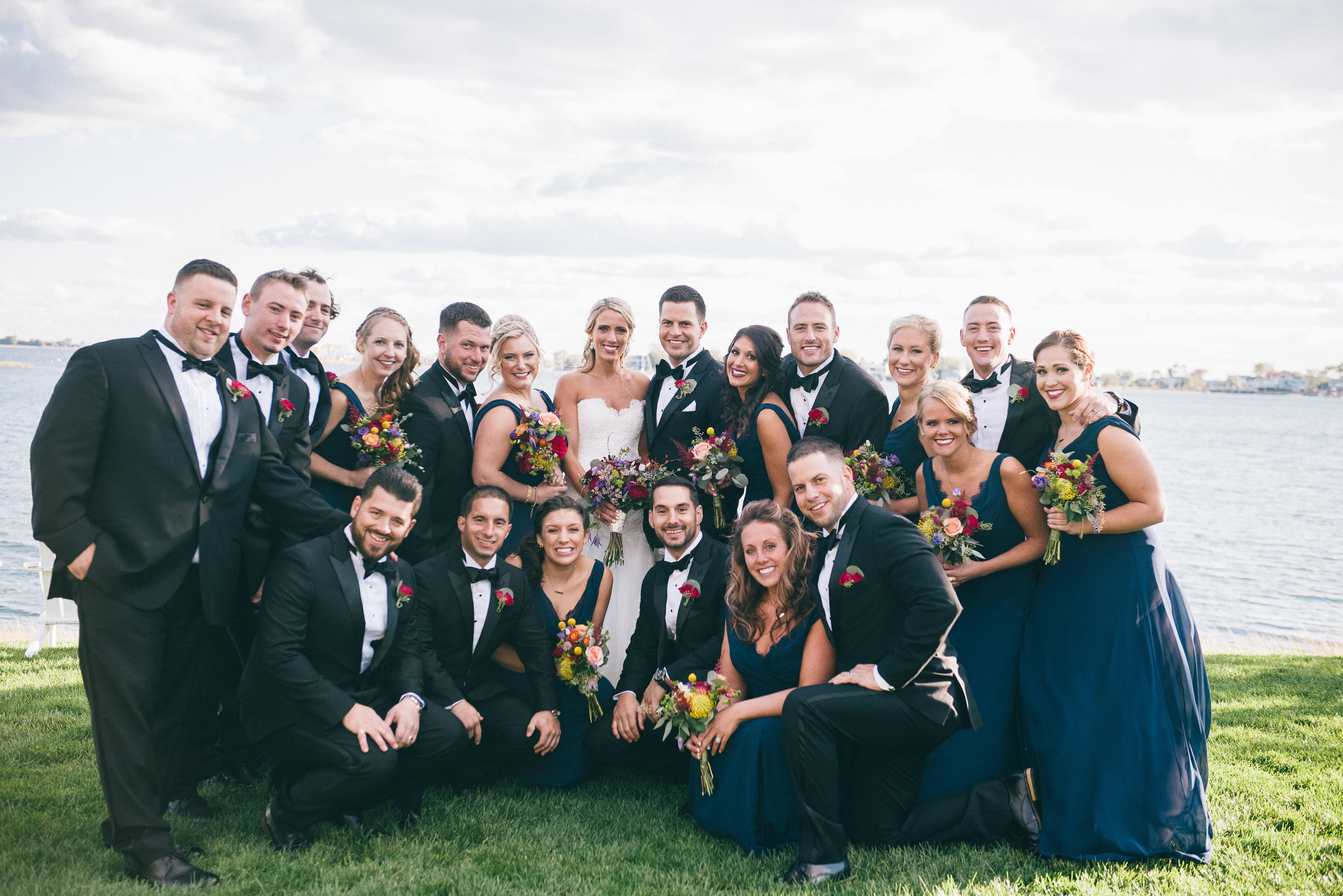 CT Wedding Amy Champagne Events Inn at Longshore Bridal Party