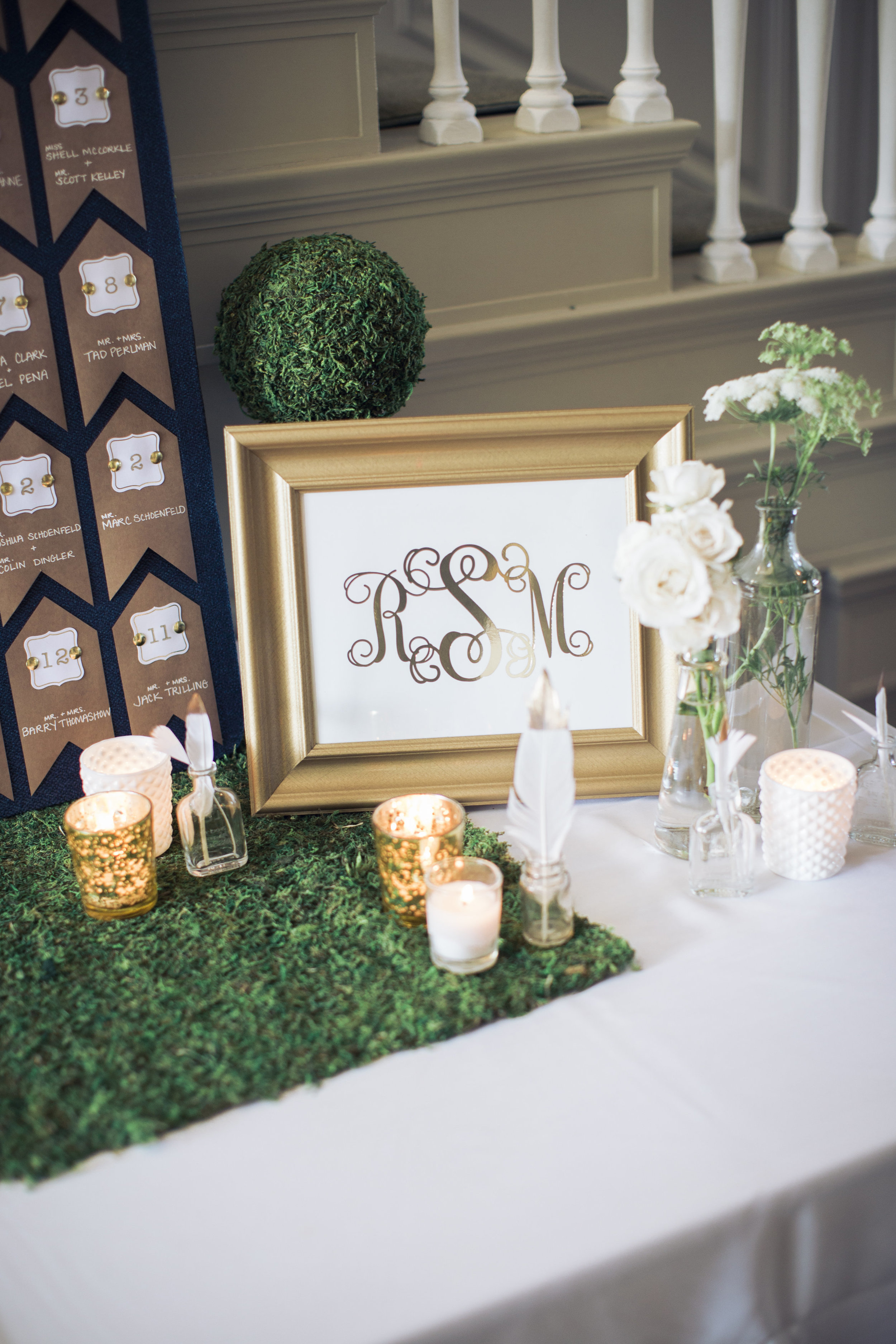 CT Wedding Eolia Mansion Amy Champagne Events Escort Card Table