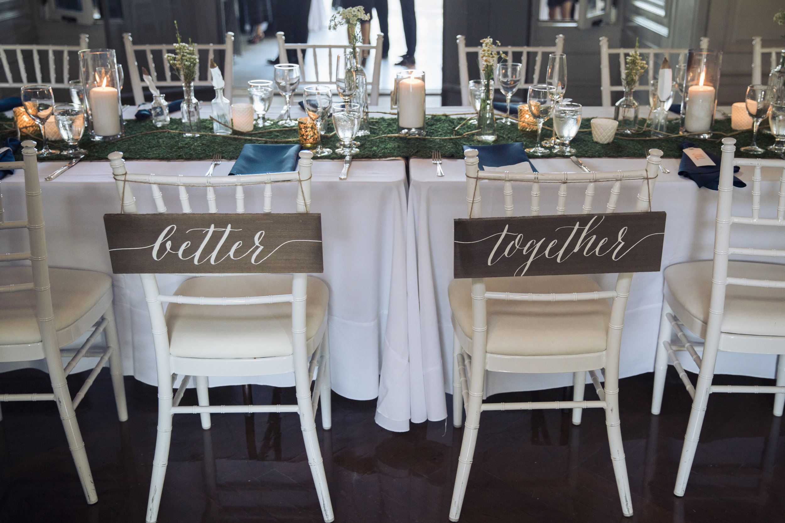 CT Wedding Eolia Mansion Amy Champagne Events Sweetheart Table Better Together