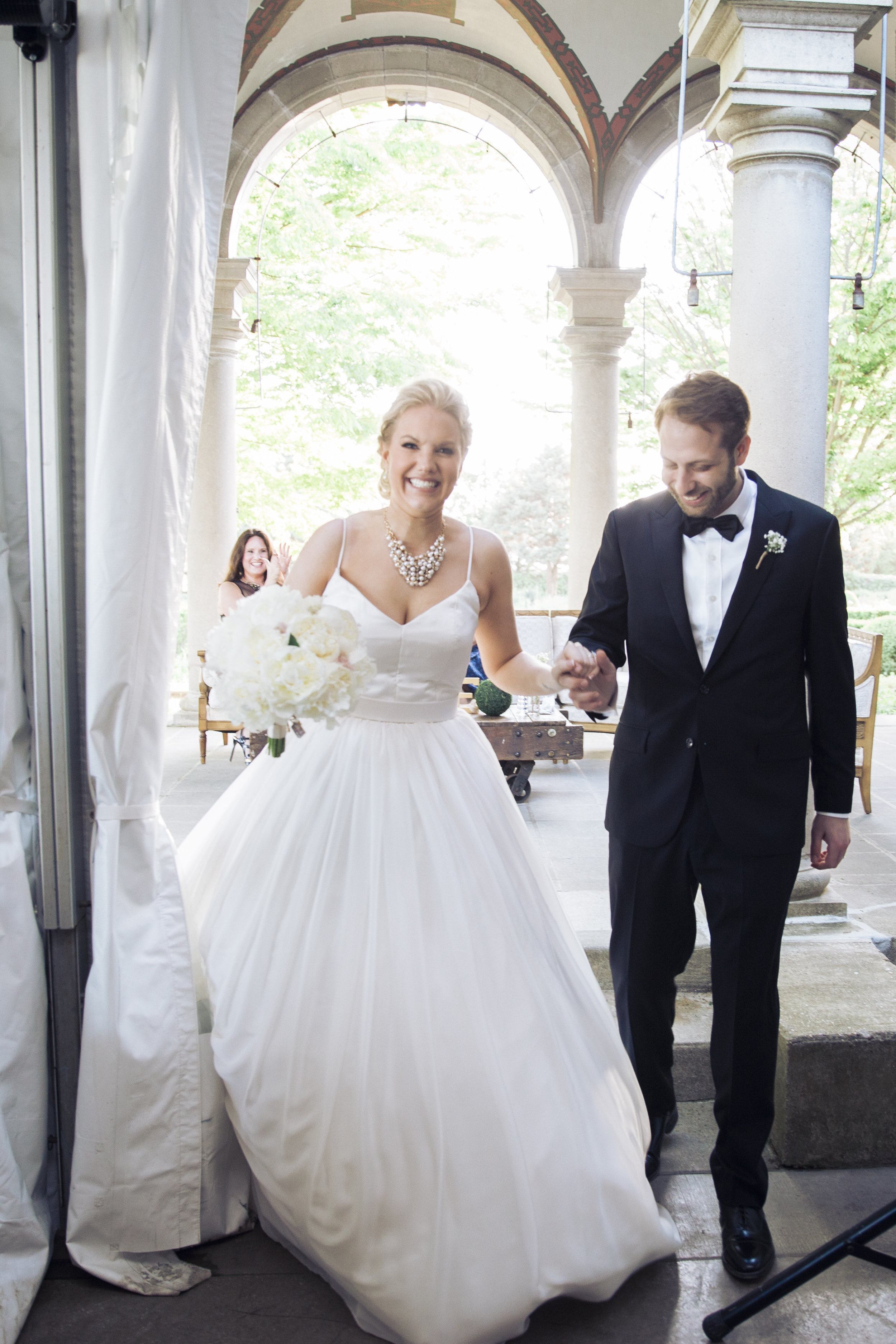 CT Wedding Eolia Mansion Amy Champagne Events Reception Bride & Groom