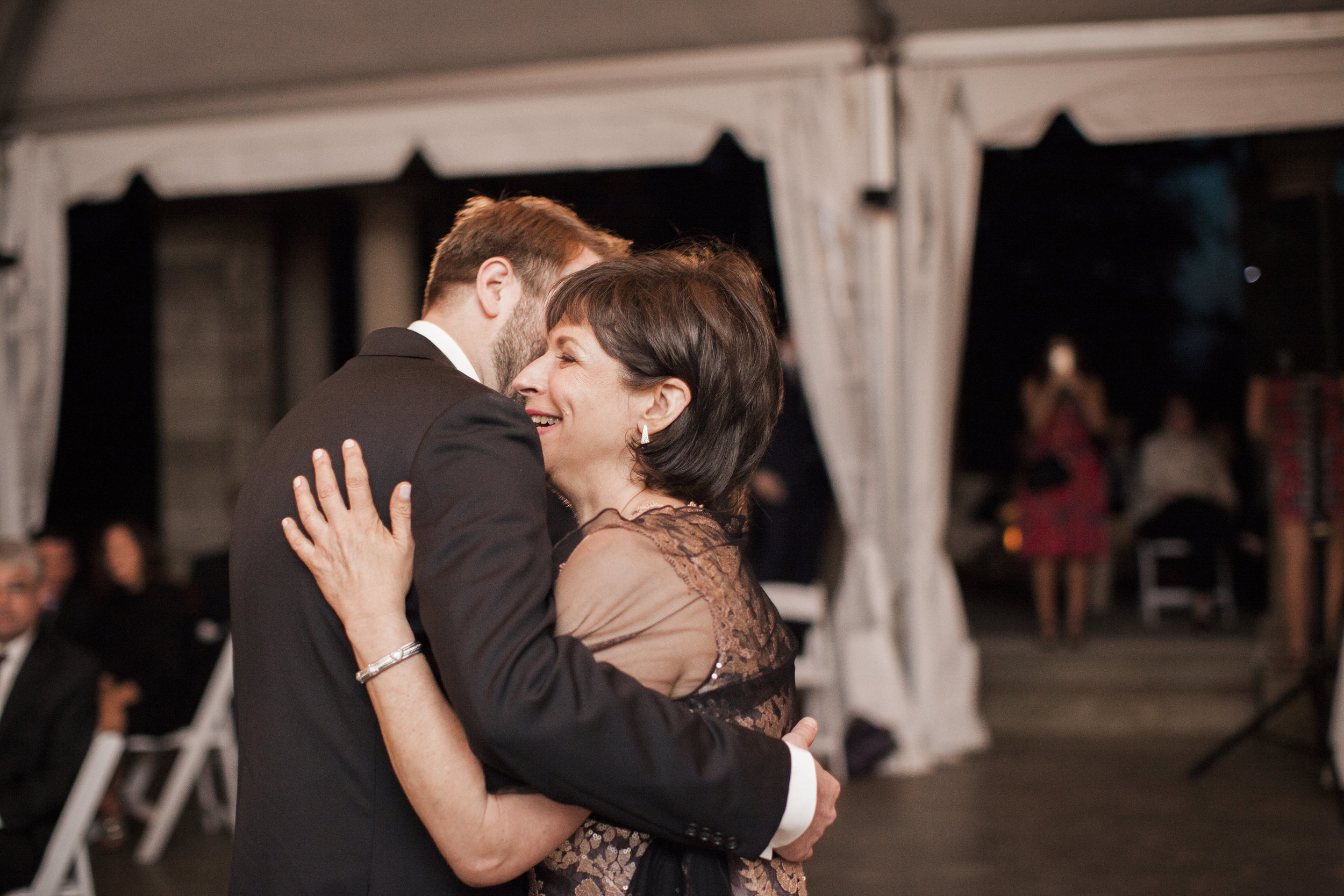 CT Wedding Eolia Mansion Amy Champagne Events Groom & Mother Dance