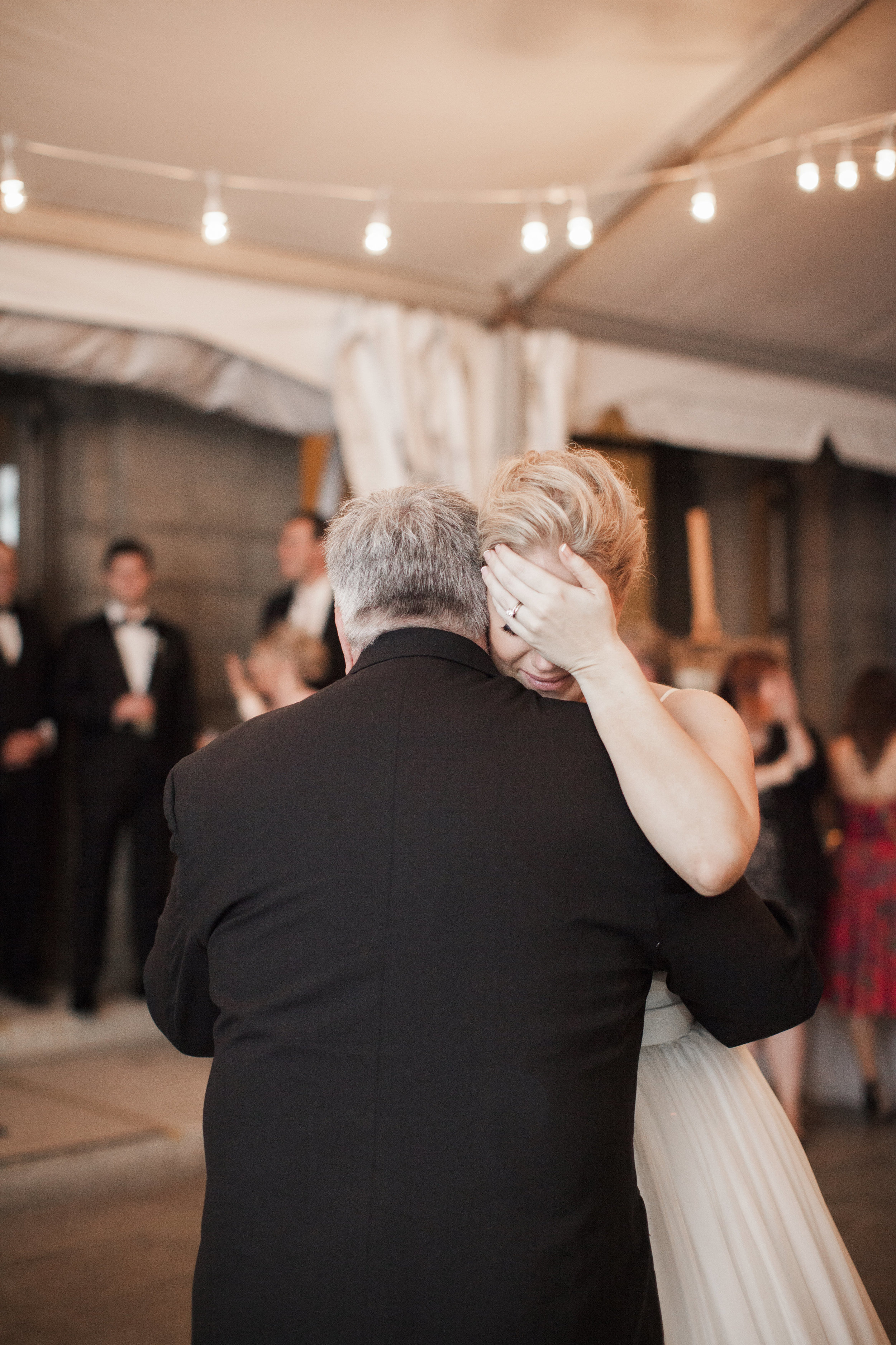 CT Wedding Eolia Mansion Amy Champagne Events Bride & Father Dance