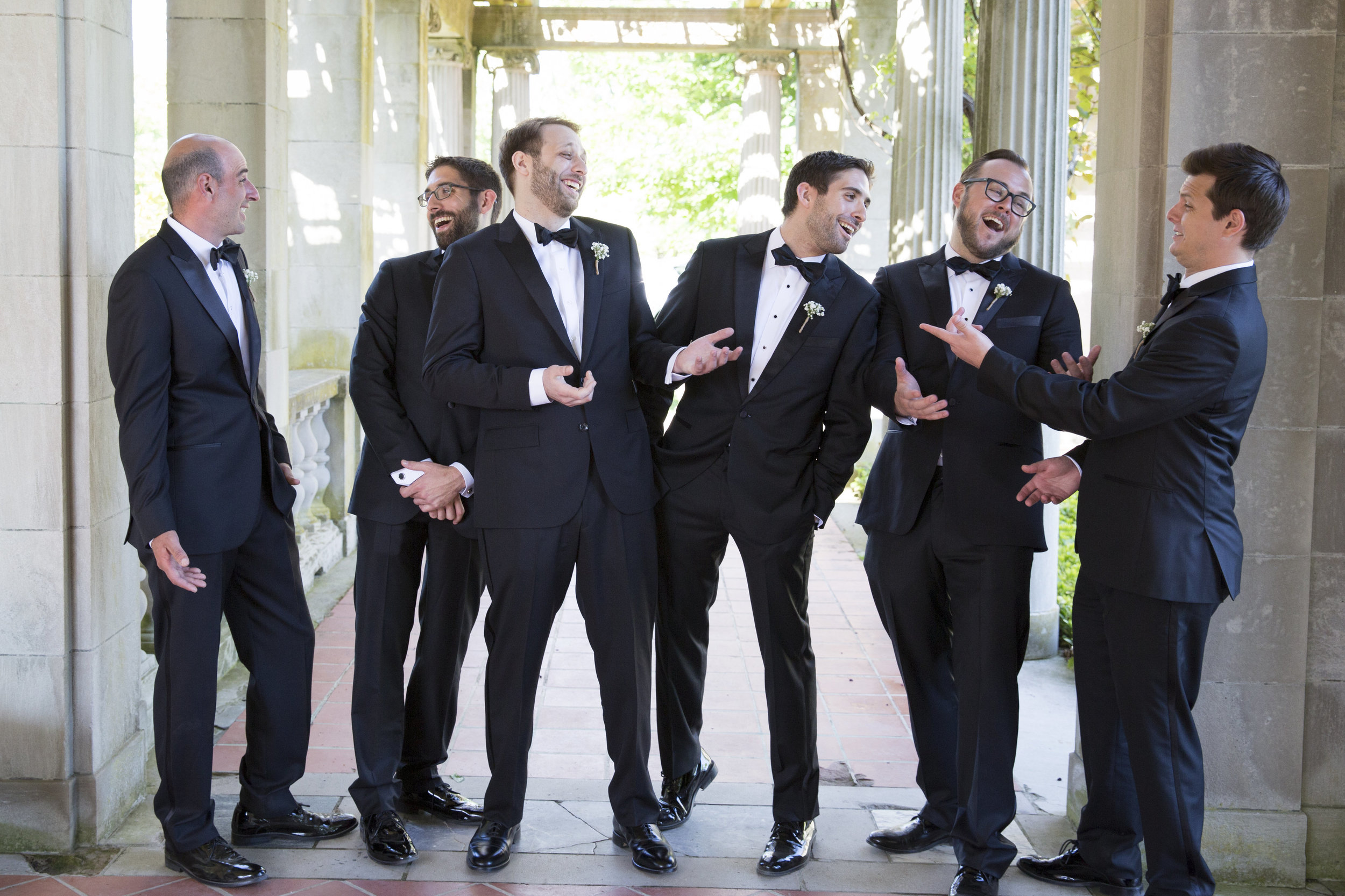 CT Wedding Eolia Mansion Amy Champagne Events Groomsmen
