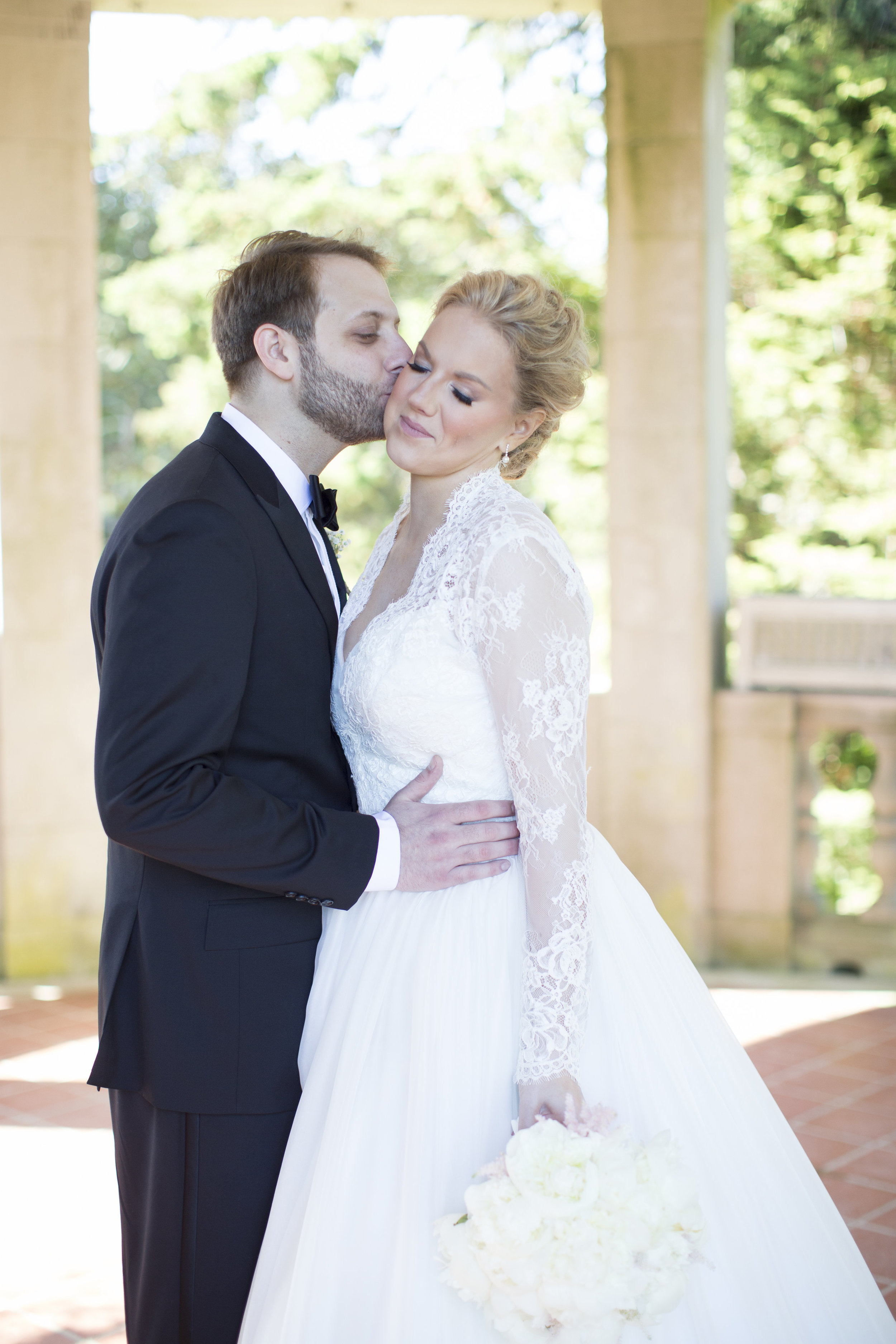 CT Wedding Eolia Mansion Amy Champagne Events Bride & Groom