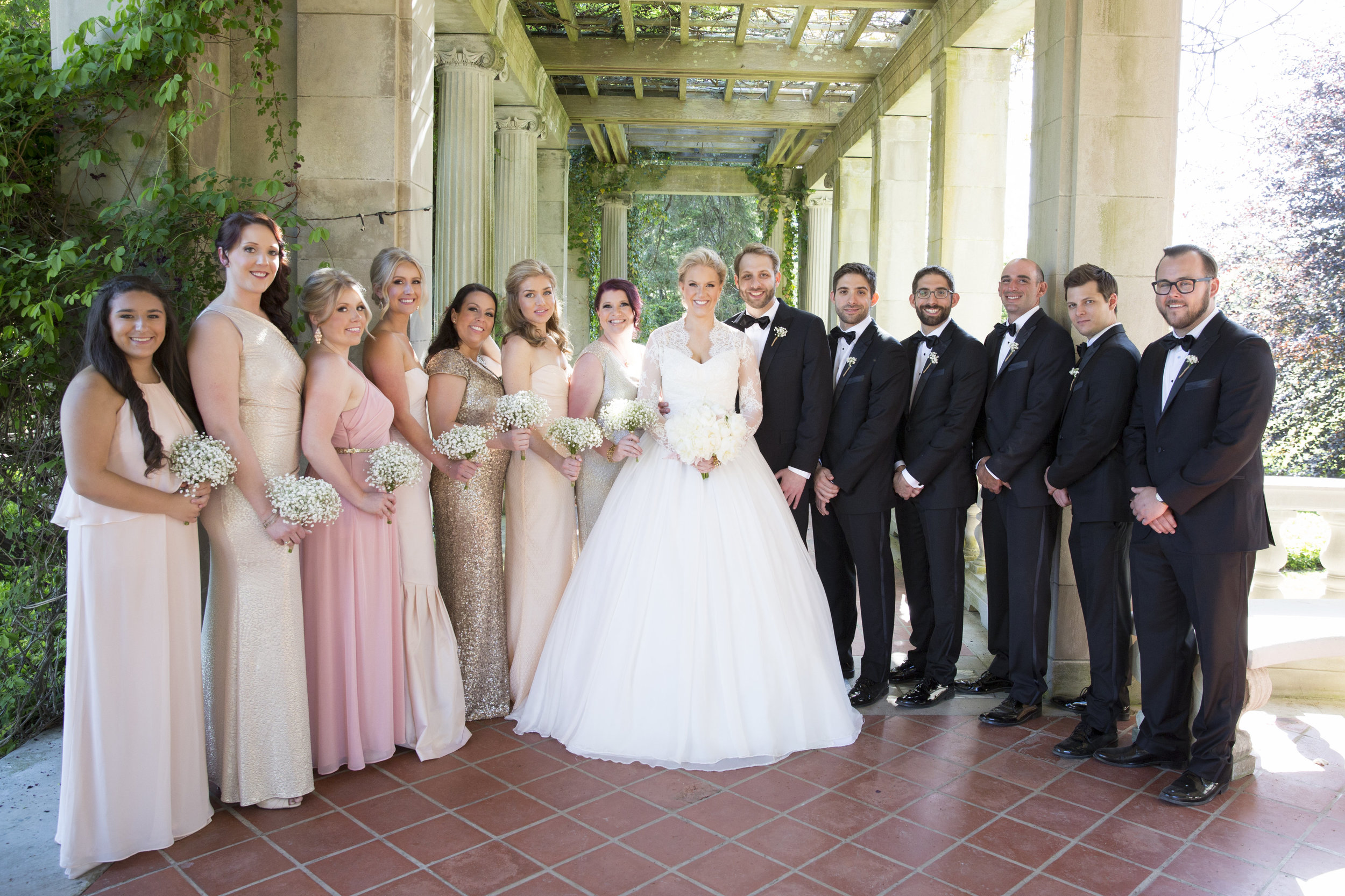 Amy Champagne Events CT Wedding Eolia Mansion Bridal Party