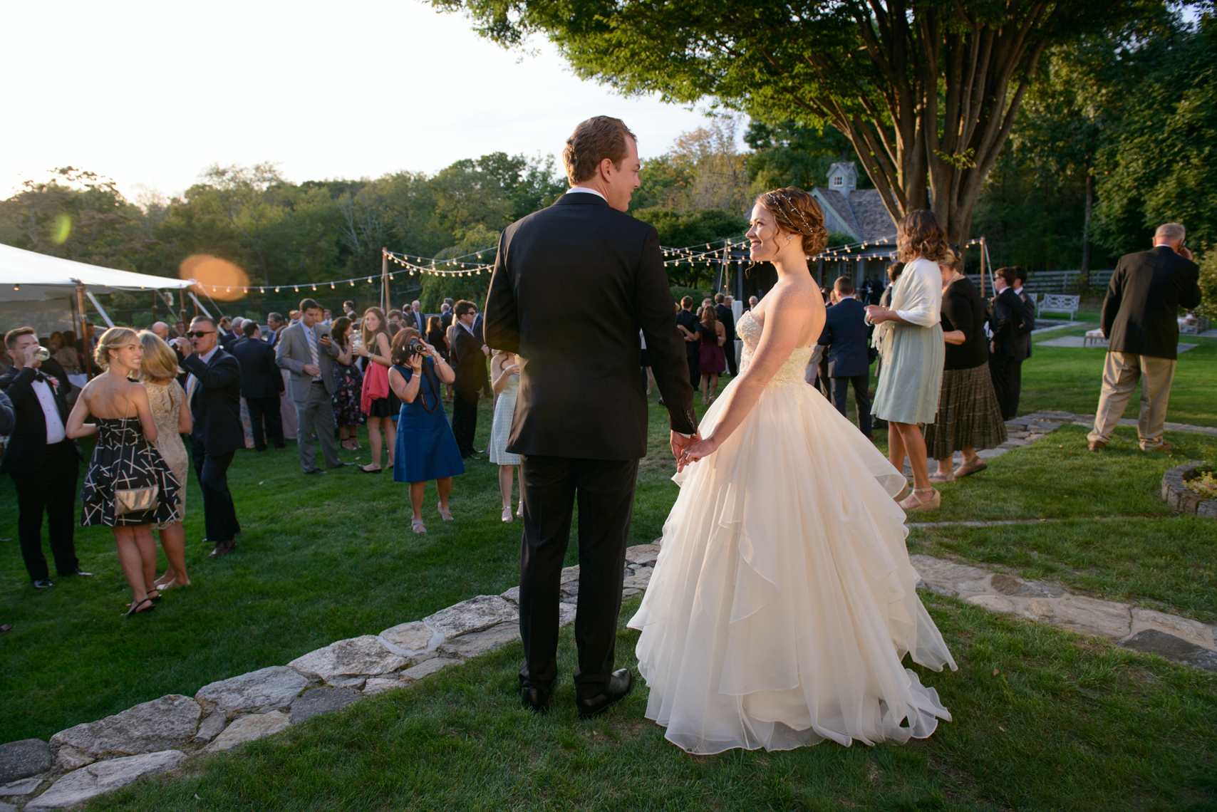 Betsy + Dave's romantic backyard September wedding, in Fairfield, CT.