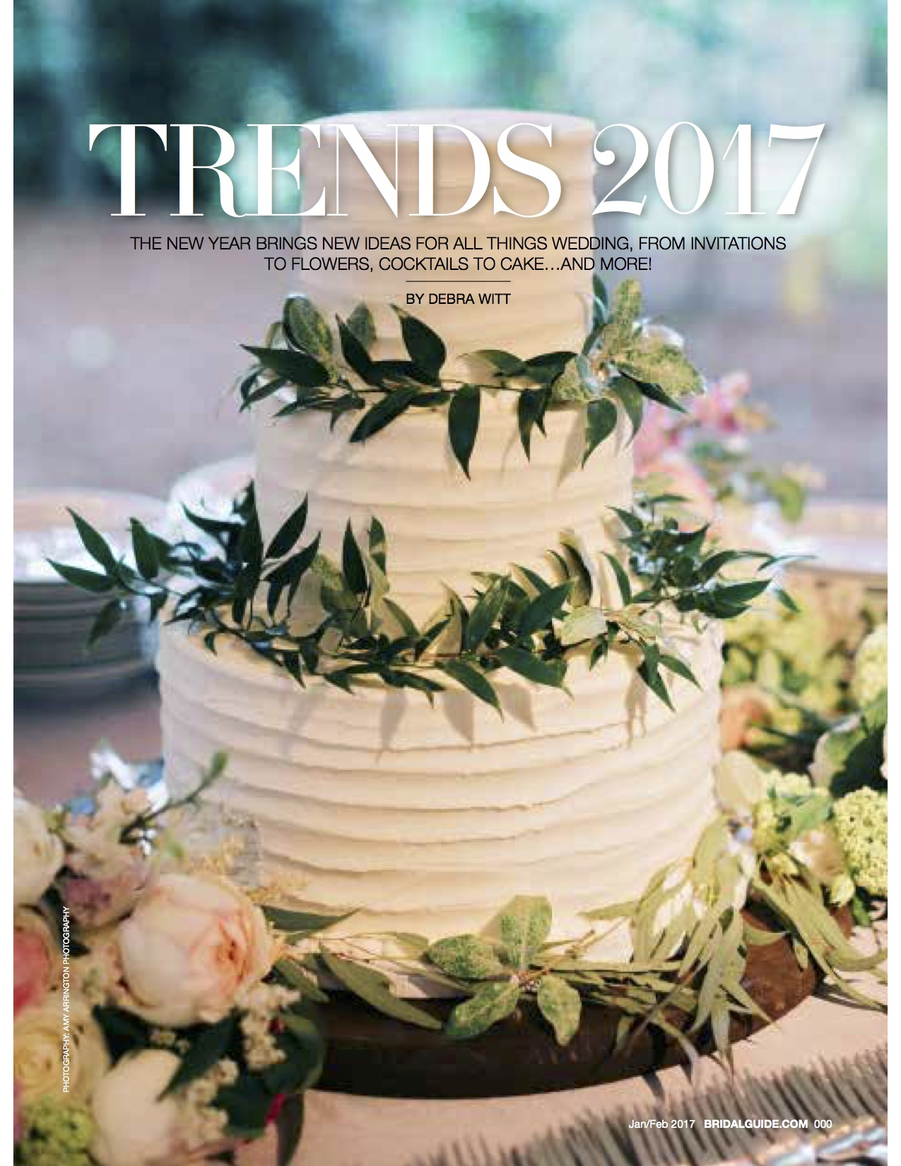 Amy Champagne Events Featured in Bridal Guide Jan/Feb