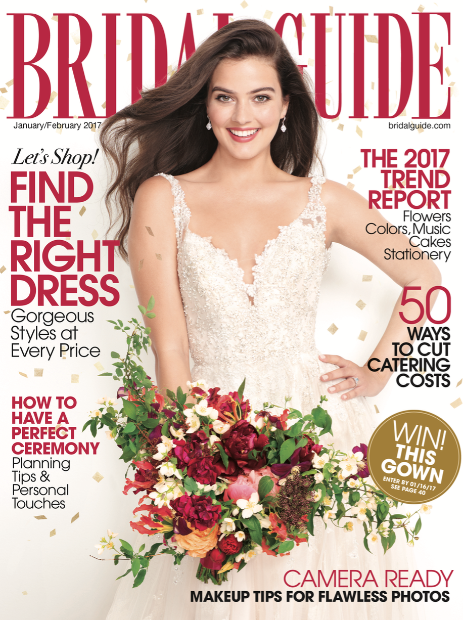 Amy Champagne Events Featured in Bridal Guide Magazine Jan/Feb Issue