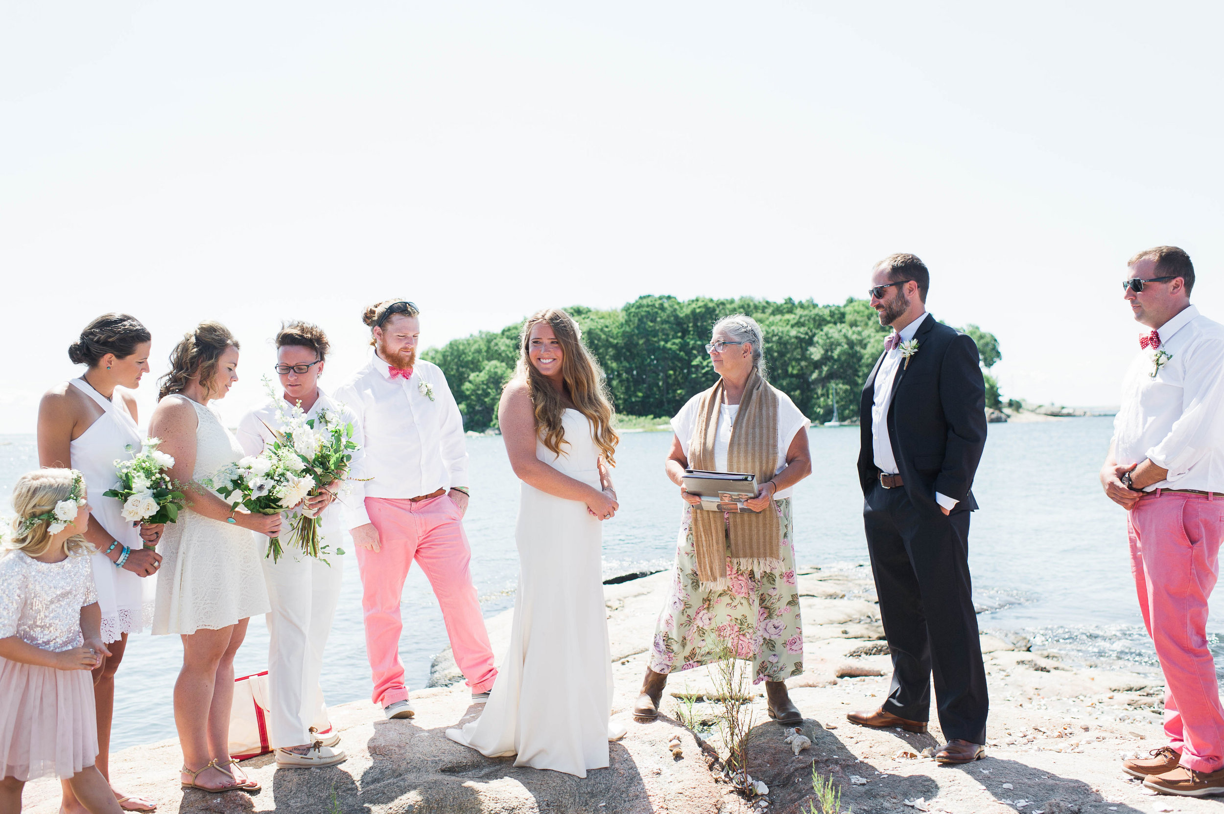 Amy Champagne Events CT Wedding Private Island Wedding