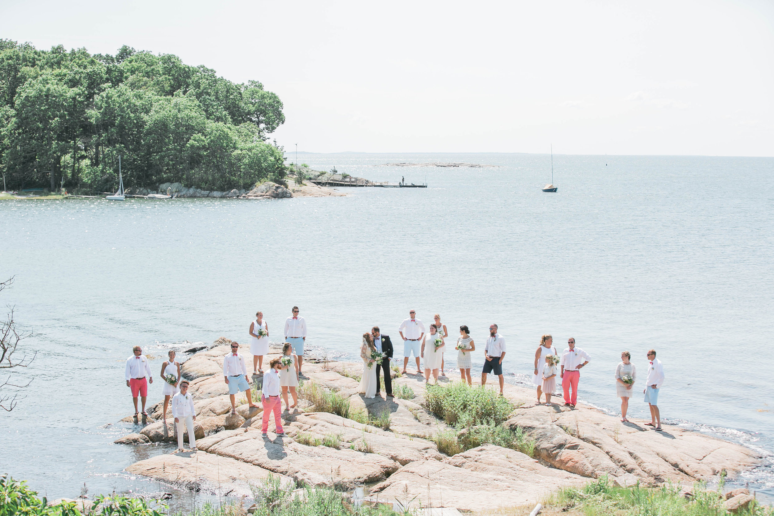 Amy Champagne Events CT Wedding Private Island Wedding Ally and Doug