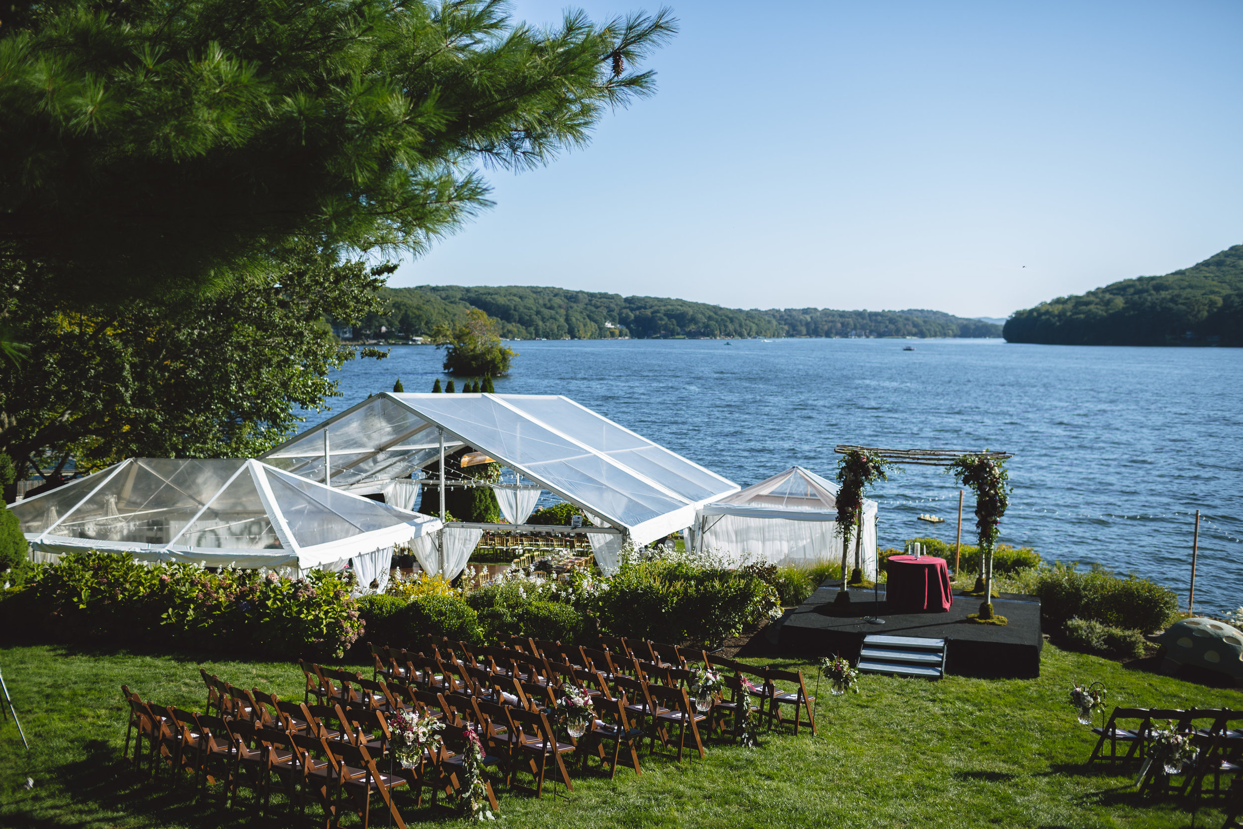 Candlewood Lake Wedding Clear Tent CT040.JPG