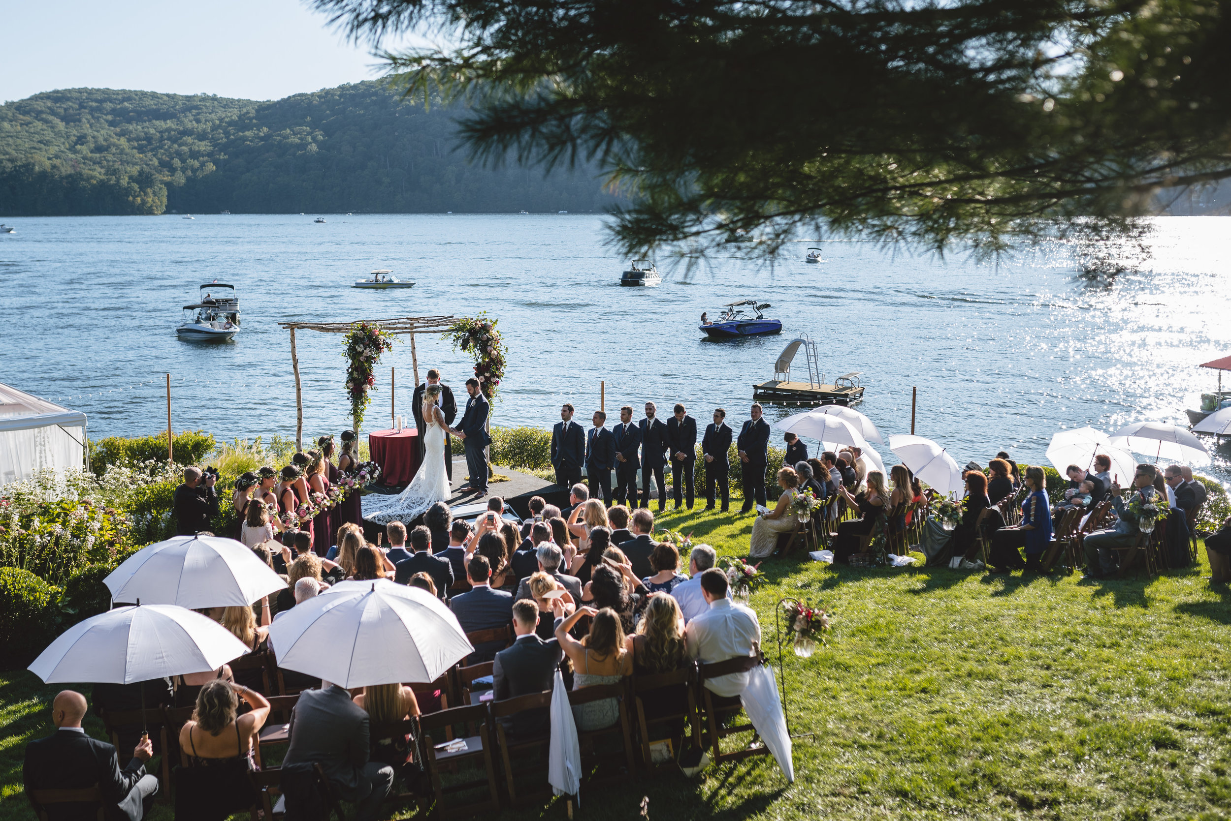 Candlewood Lake Wedding Clear Tent CT055.JPG