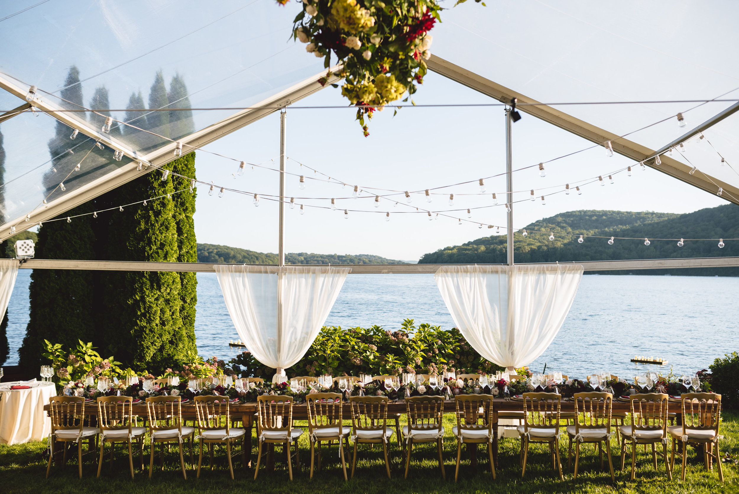 Candlewood Lake Wedding Clear Tent CT077.JPG