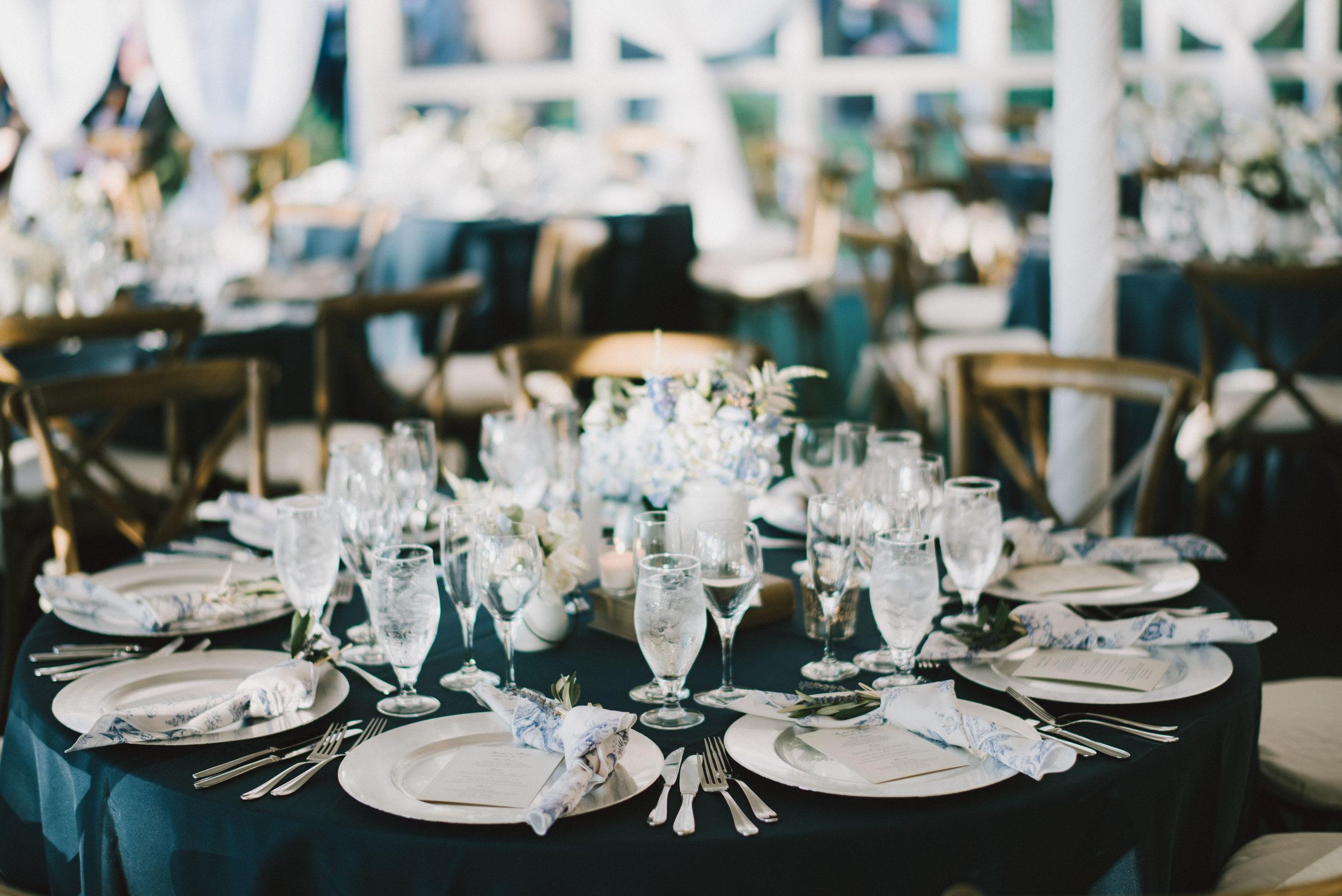 Wainwright House Blue and White Wedding