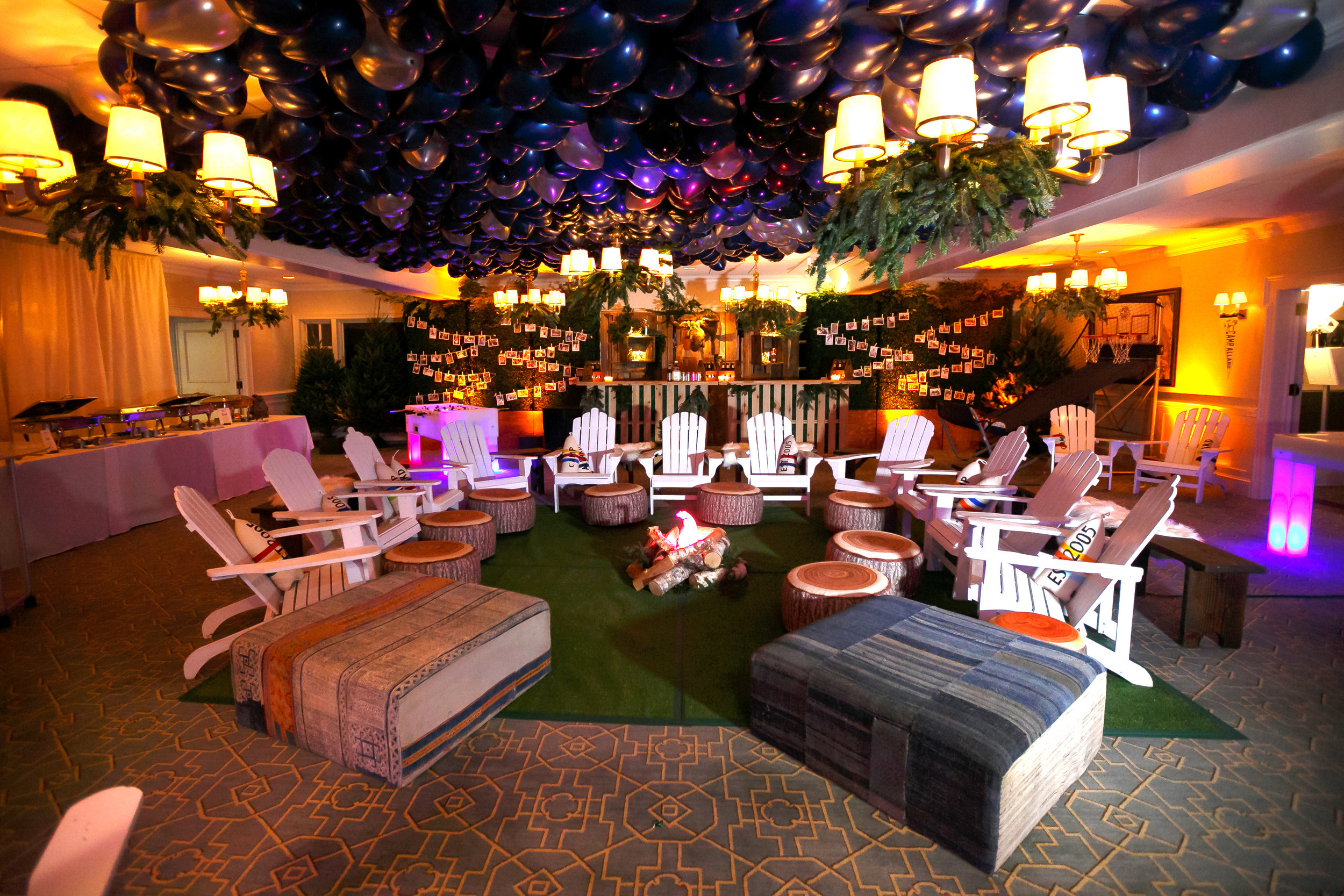 camp themed bar mitzvah - winter