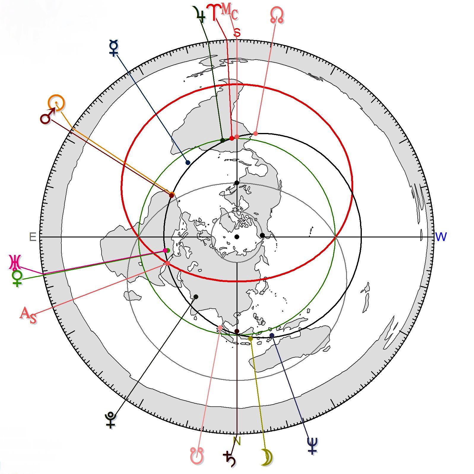 Polar Azimuthal Equidistant Projection