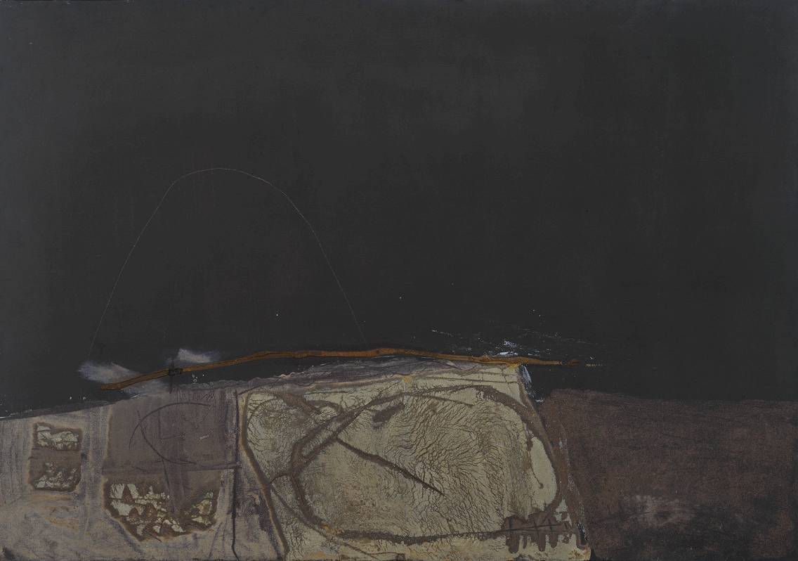 Antoni Tapies,   Grey and Green Painting   1957  © Foundation Antoni Tapies, Barcelona/ADAGP, Paris and DACS, London 2002