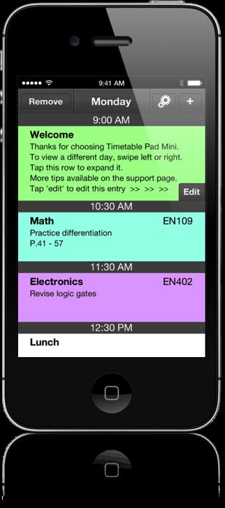 Timetable Pad Screenshot