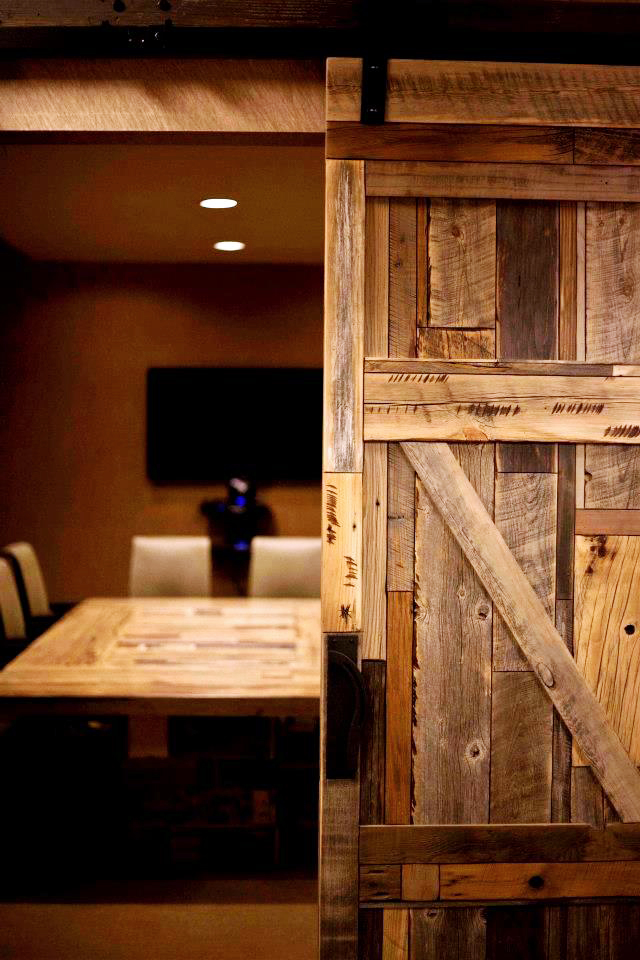 modern reclaimed wood doors