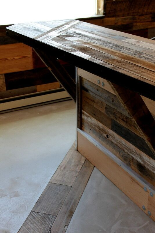 industrial reclaimed wood bar