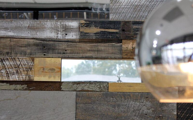 reclaimed wood interior wall